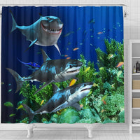 Sharks Shower Curtain - Create Your Own Custom Apparel T-Shirts Home Decor Lifestyle The Harry Potter Store