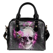 Skull Wearing Crown Shoulder Handbag - Create Your Own Custom Apparel T-Shirts Home Decor Lifestyle The Harry Potter Store