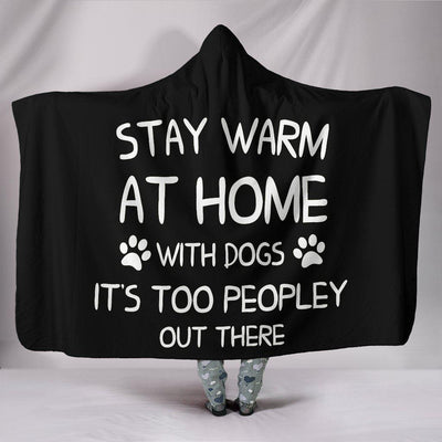 Stay warm at home with dogs Hooded Blanket - Create Your Own Custom Apparel T-Shirts Home Decor Lifestyle The Harry Potter Store