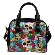 Sugar Skull Shoulder Handbag - Create Your Own Custom Apparel T-Shirts Home Decor Lifestyle The Harry Potter Store