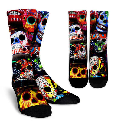Sugar Skulls Socks - Create Your Own Custom Apparel T-Shirts Home Decor Lifestyle The Harry Potter Store