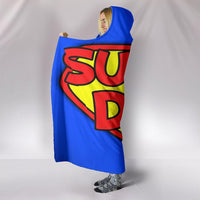 Super Dad Hooded Blanket - Create Your Own Custom Apparel T-Shirts Home Decor Lifestyle The Harry Potter Store