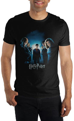 Teenage Harry Potter With Friends Men's Black T-Shirt - Create Your Own Custom Apparel T-Shirts Home Decor Lifestyle The Harry Potter Store