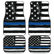 Thin Blue Line Front And Back Car Mats (Set Of 4) - Create Your Own Custom Apparel T-Shirts Home Decor Lifestyle The Harry Potter Store