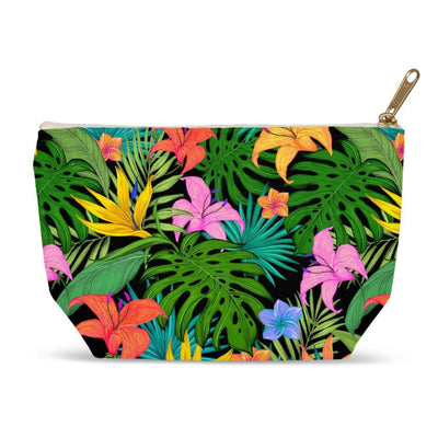Tropical Jungle Print Accessory Pouches - Create Your Own Custom Apparel T-Shirts Home Decor Lifestyle The Harry Potter Store