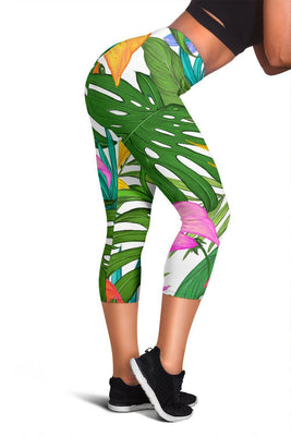 Tropical Leaves - Women's Capris - Create Your Own Custom Apparel T-Shirts Home Decor Lifestyle The Harry Potter Store