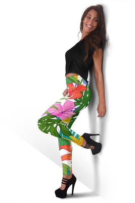 Tropical Leaves - Women's Leggings - Create Your Own Custom Apparel T-Shirts Home Decor Lifestyle The Harry Potter Store
