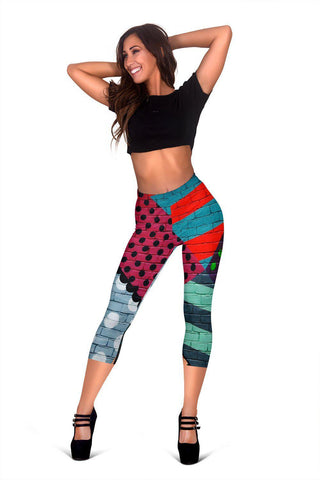 Urban Abstract Art - Women's Capris-Capris-Unique Gifts And Apparel - Shop Your Gift Emporium