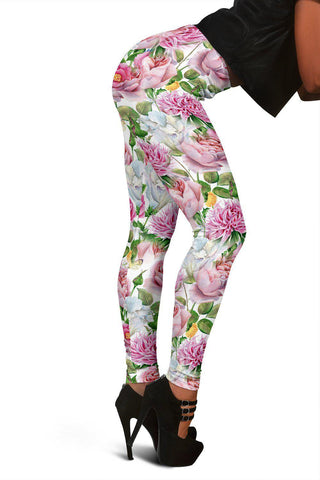 Watercolor Floral Leggings-Leggings-Unique Gifts And Apparel - Shop Your Gift Emporium
