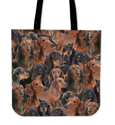 Wiener Dogs Tote Bag - Create Your Own Custom Apparel T-Shirts Home Decor Lifestyle The Harry Potter Store