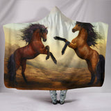Wild And Free Hooded Blanket - Horses-Just For Fun-Unique Gifts And Apparel - Shop Your Gift Emporium