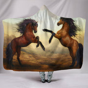 Wild And Free Hooded Blanket - Horses - Create Your Own Custom Apparel T-Shirts Home Decor Lifestyle The Harry Potter Store