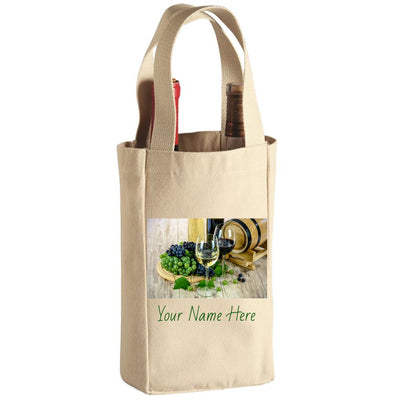 Wine Tote Bag - 2 Bottle  Customizable - Create Your Own Custom Apparel T-Shirts Home Decor Lifestyle The Harry Potter Store