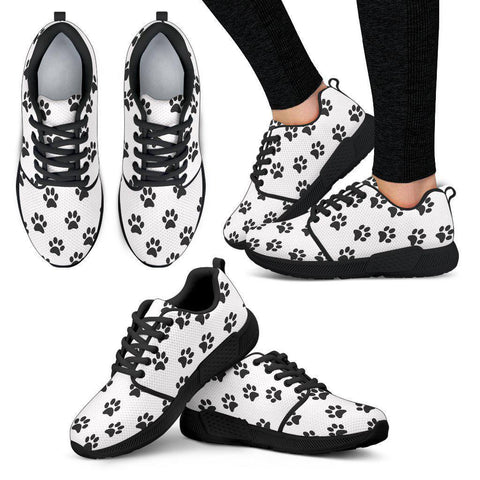 Women's Athletic Paw prints Sneakers-Custom Products-Unique Gifts And Apparel - Shop Your Gift Emporium