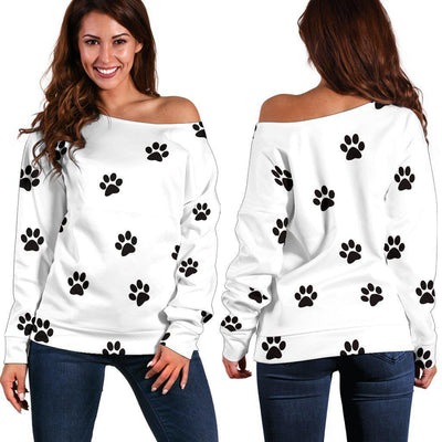 Women's off shoulder paw prints sweater - Create Your Own Custom Apparel T-Shirts Home Decor Lifestyle The Harry Potter Store