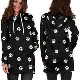 WOMEN'S PAW PRINTS HOODIE DRESS-Custom Products-Unique Gifts And Apparel - Shop Your Gift Emporium