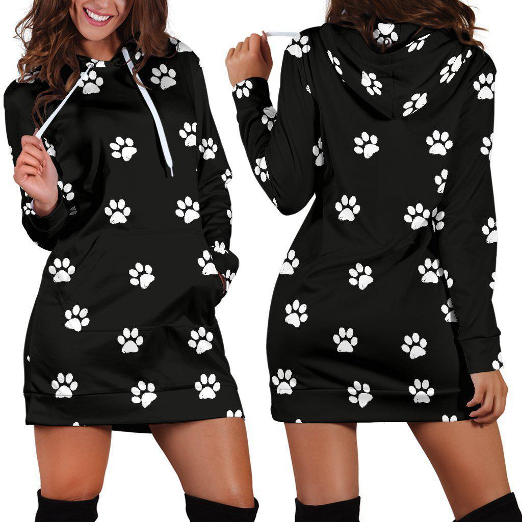 Paw Prints - Women's Hoodie Dress - Create Your Own Custom Apparel T-Shirts Home Decor Lifestyle The Harry Potter Store