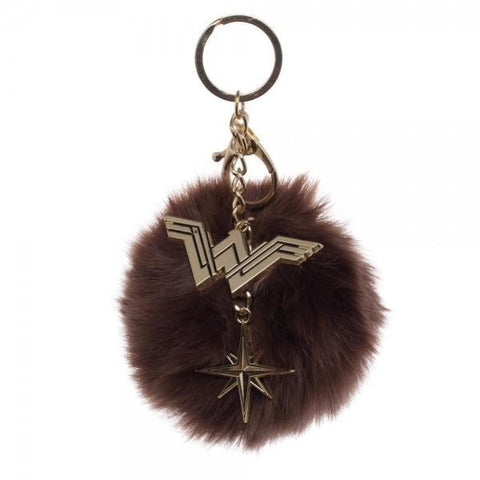 Wonder Woman Furry Pom Pom Handbag Charm-Licensed Merchandise-Unique Gifts And Apparel - Shop Your Gift Emporium