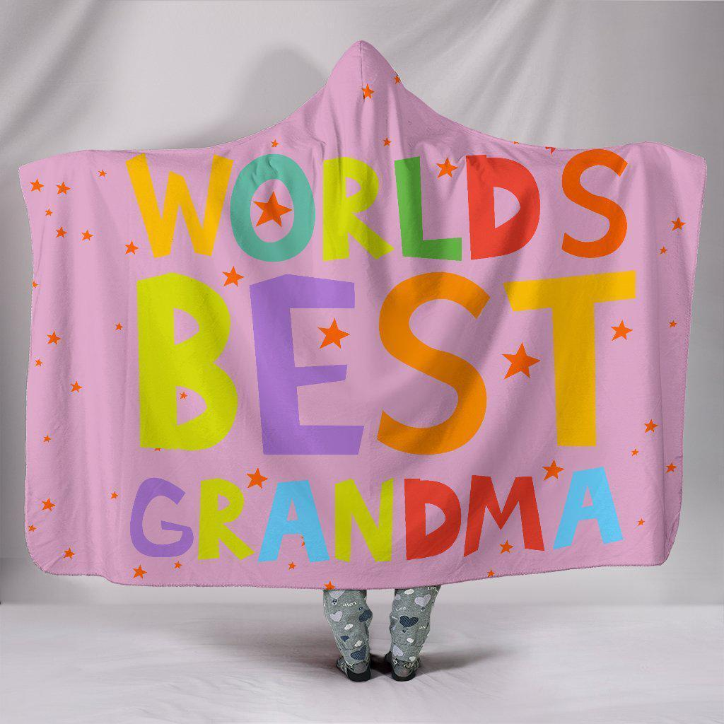 Worlds Best Grandma Hooded Blanket - Create Your Own Custom Apparel T-Shirts Home Decor Lifestyle The Harry Potter Store