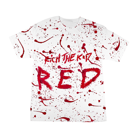 RED SPLATTER T-SHIRT