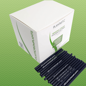 Box of 500 6mm * 120mm Biodegradable and Compostable Short Straws with Hashtag
