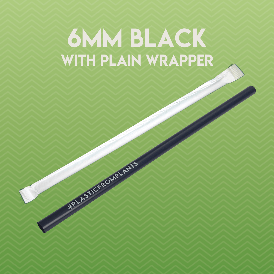 Box of 250 6mm Biodegradable and Compostable Straws in Paper Wrap