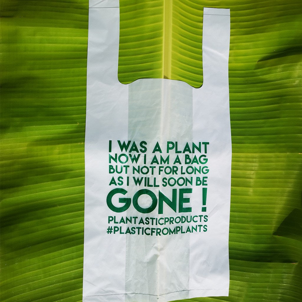 "Home Compostable and Biodegradable Carrier Bags 9"" x 18"" (100 Pieces)"