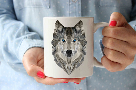 Geometrical Wolf Coffee Mug