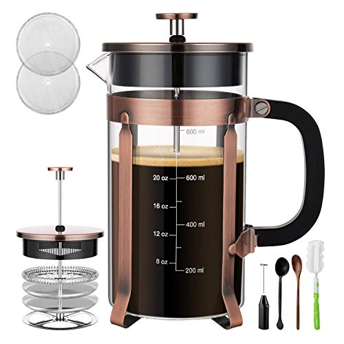 Copper French Press Coffee Maker