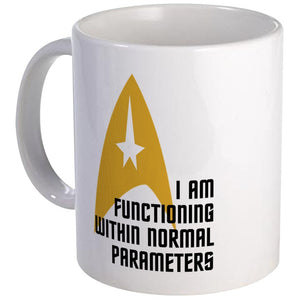 Star Trek Normal Parameters Mug