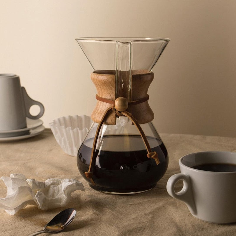Pour Over Coffee Maker With Filter - 4-cup
