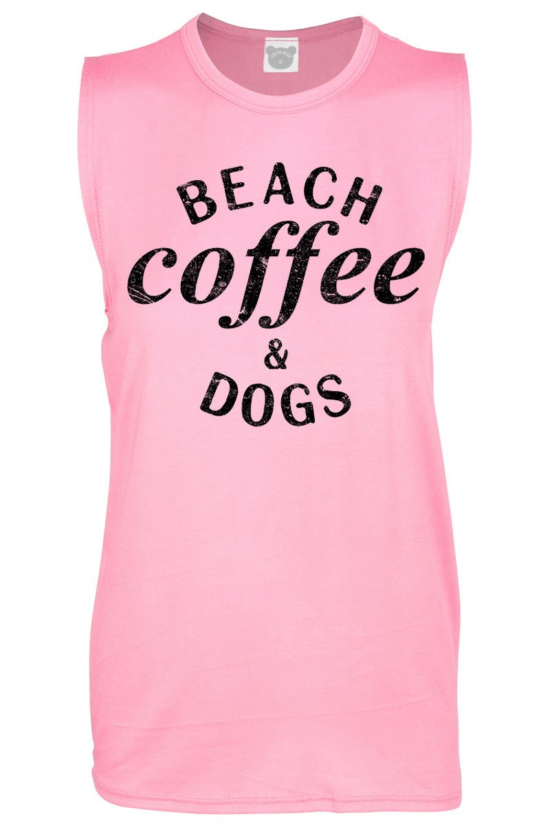Beach, Coffee & Dogs Tank Top