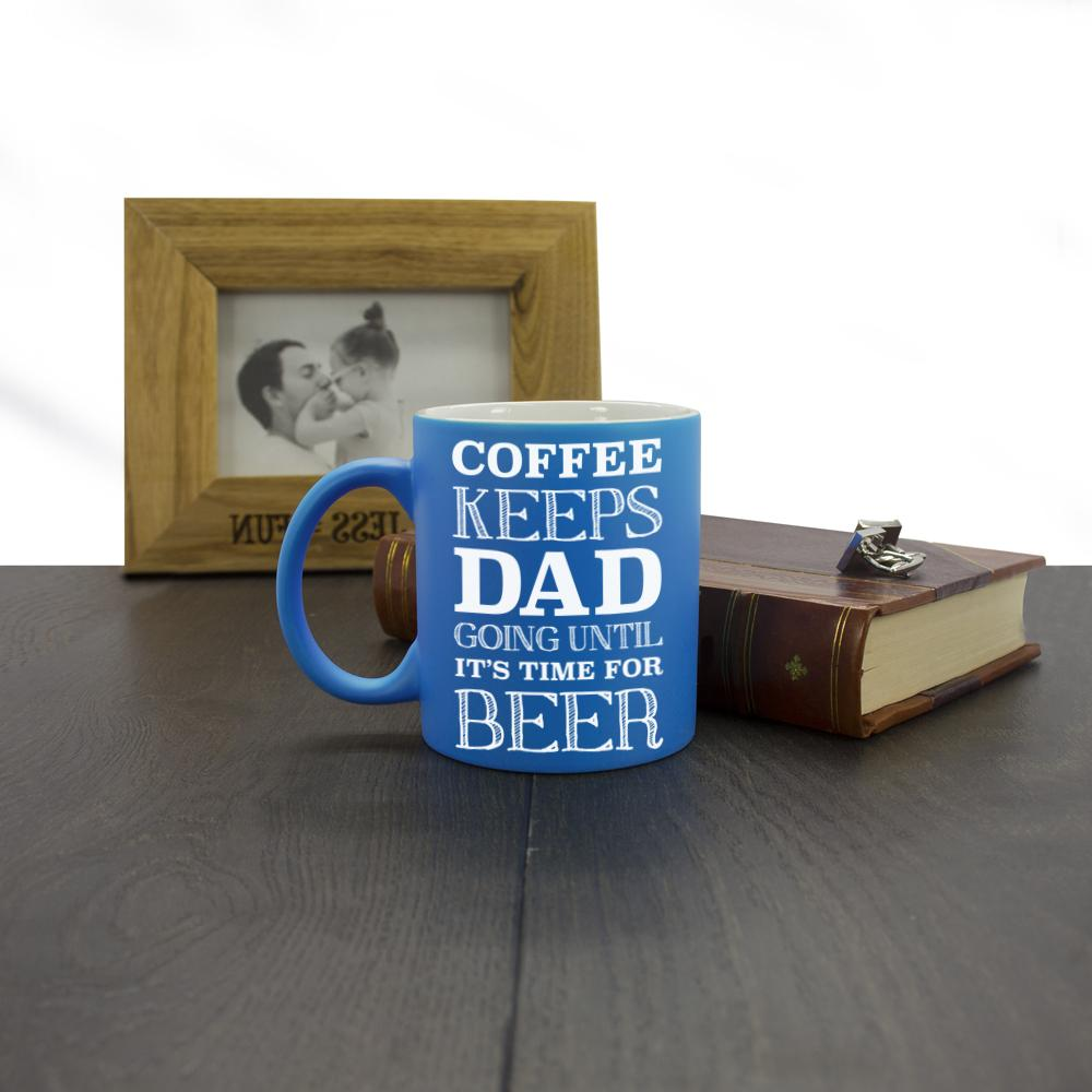 Coffee & Beer Loving Dad Coffee Mug