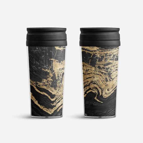 Insulated Travel Mug Duo - Marble