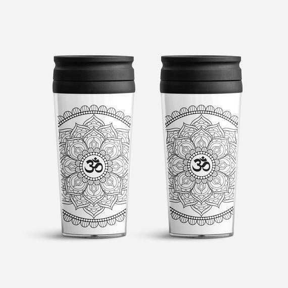 Insulated Travel Mug Duo - Mandala