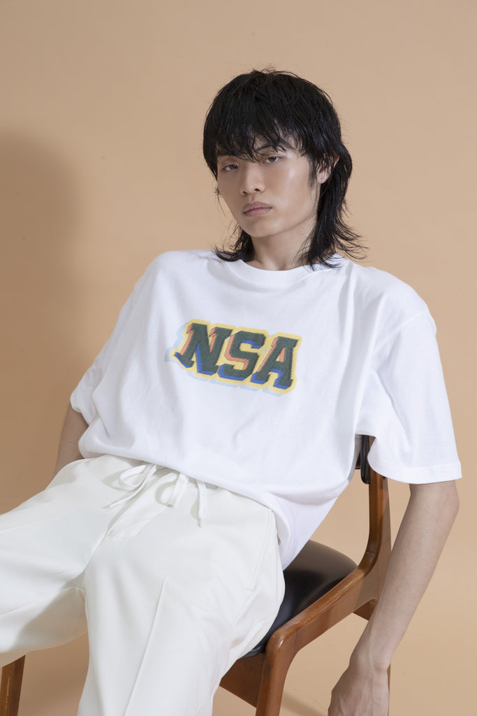 Not So Ape NSA Varsity Tee in White