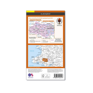 OS Map Brecon Beacons West - OL12 - Back