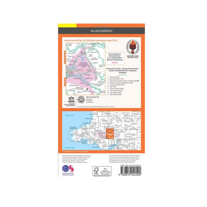 OS Map Brecon Beacons East - OL13 - Back