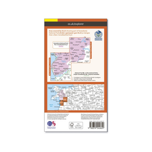 OS Map Cadair Idris & Bala Lake - OL23 - Back