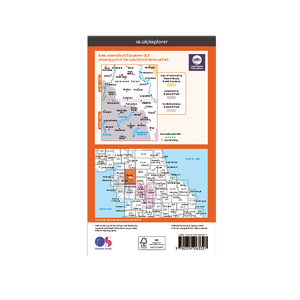 OS Map The Lake District North-East - OL5 - Back