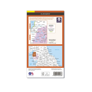 OS Map The Lake District North-West - OL4 - Back