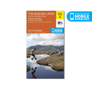 OS Map Lake District South-West - OL6