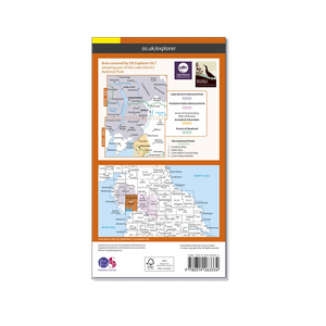 OS Explorer Map of The Lake District - South-Eastern Area (OL7)