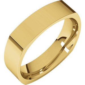 SQUARE MEN'S 22KT GOLD WEDDING RING