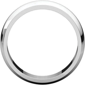 HALF ROUND EDGE MEN'S SILVER WEDDING RING