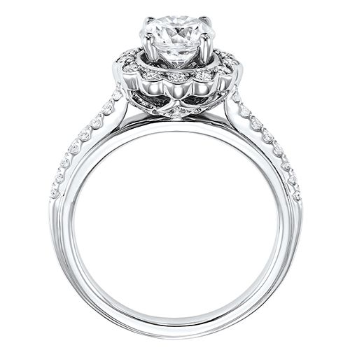DIAMOND HALO ENGAGEMENT RING RG58557