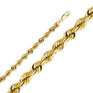 SOLID 14KT YELLOW GOLD ROPE CHAIN