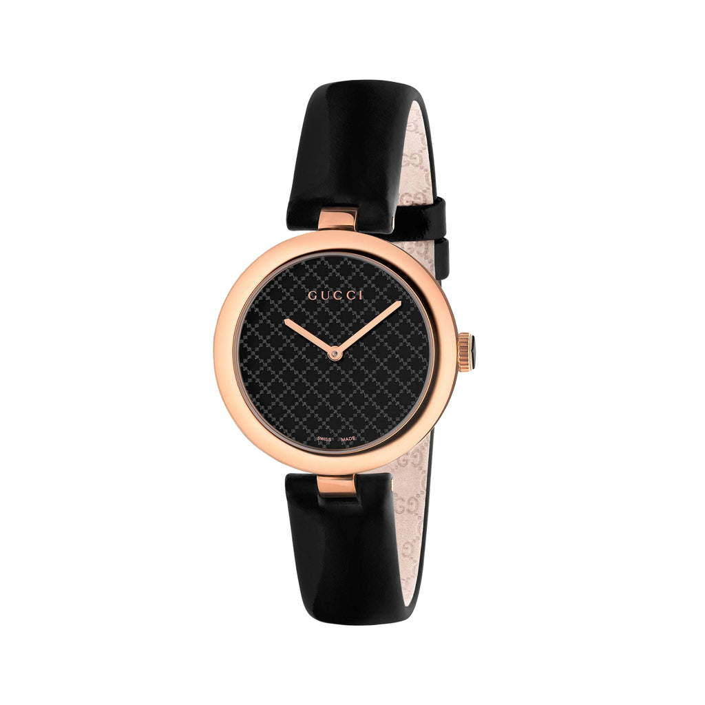 DIAMANTISSIMA 32MM LEATHER BLACK