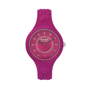 FUCHSIA BI-COLOR FIRE ISLAND WATCH