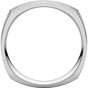 SQUARE MEN'S PLATINUM WEDDING RING